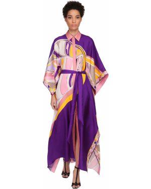 Платье с поясом на пуговицах платье-майка Emilio Pucci