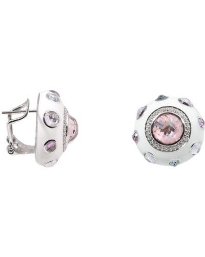 Розовые серебряные серьги Jewelry Box