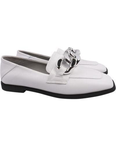 Кожаные туфли - белые Tucino