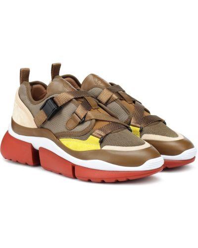 Кожаные кроссовки городские коричневый Chloe