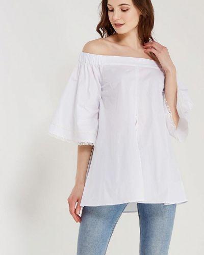 Блузка с открытыми плечами белая Anastasya Barsukova