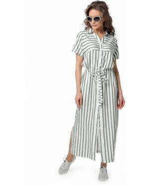 Платье макси в полоску на пуговицах Dizzyway