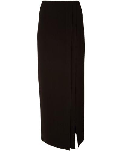 Прямая черная юбка макси Adolfo Dominguez