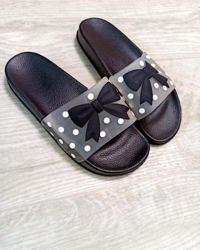 Резиновые шлепанцы - черные Slippers