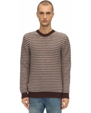 Prążkowany brązowy z kaszmiru sweter Piacenza Cashmere