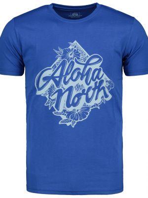 Niebieski t-shirt bawełniany na co dzień Northfinder