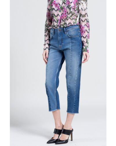 Джинсы бойфренды с нашивками на пуговицах Pepe Jeans