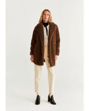 Укороченное пальто из овчины пальто Mango