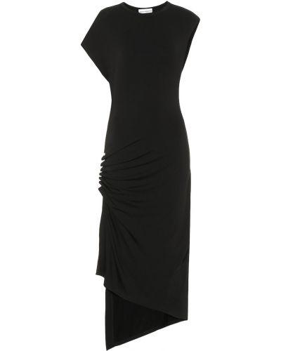 Платье миди с мехом из вискозы Paco Rabanne