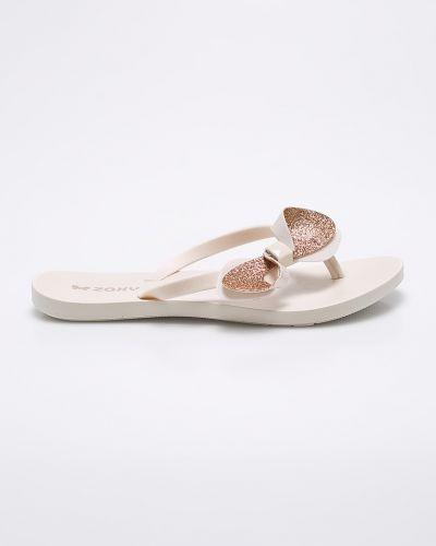 Бежевые сандалии Zaxy