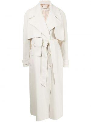 Белое длинное пальто Ginger & Smart