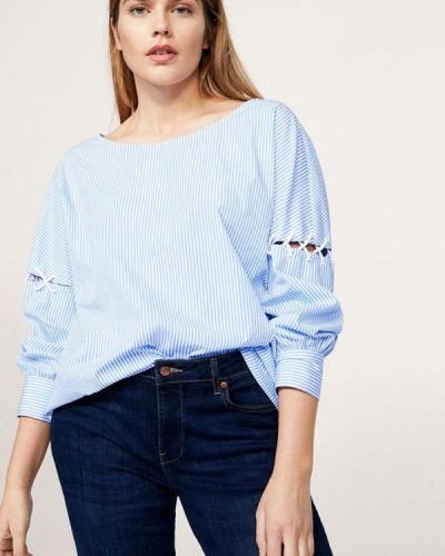 Голубая блузка Violeta By Mango