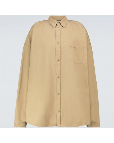 Bawełna bawełna sport beżowy koszula Balenciaga