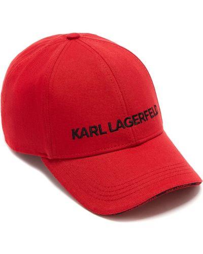 Кепка красная с логотипом Karl Lagerfeld