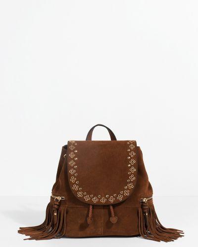 Кожаный рюкзак с подкладкой с шипами Parfois
