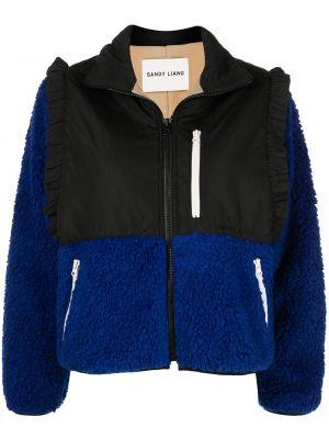 Синяя куртка на молнии с карманами Sandy Liang