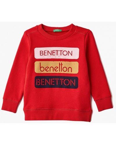 Красный свитшот United Colors Of Benetton