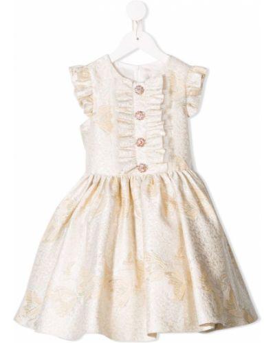 Желтое платье с рукавами David Charles Kids