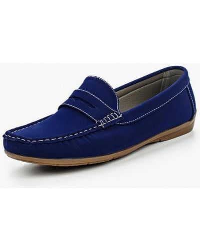 Мокасины замшевые синий Ws Shoes