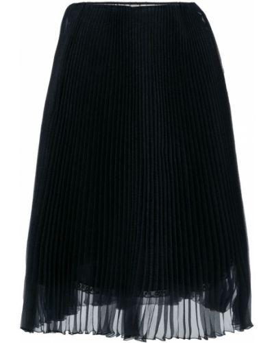 Плиссированная юбка миди классическая Prada