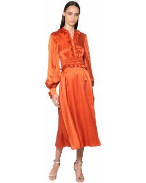 Платье миди макси на пуговицах Temperley London