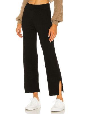 Nylon czarny klasyczne spodnie za pełne elastyczny L'academie