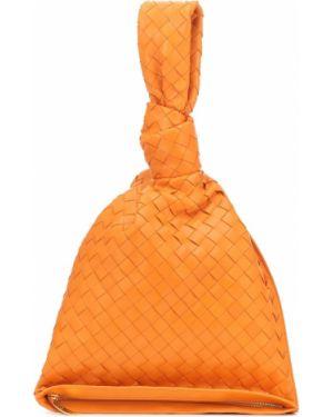 Torba sprzęgło pomarańczowy Bottega Veneta