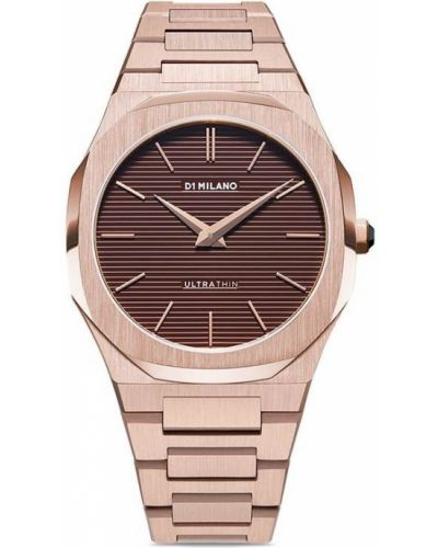 Кварцевые часы - коричневые D1 Milano