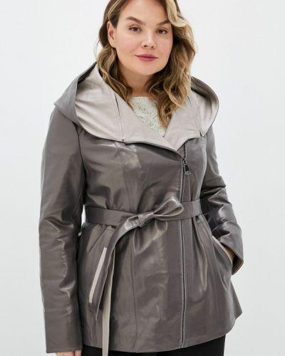 Серая кожаная куртка снежная королева