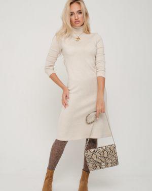 Платье миди из ангоры платье-сарафан Leleya