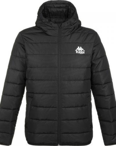 Черная теплая короткая куртка на молнии Kappa