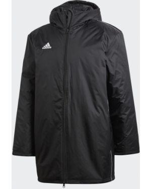 Футбольная спортивная теплая черная утепленная куртка Adidas