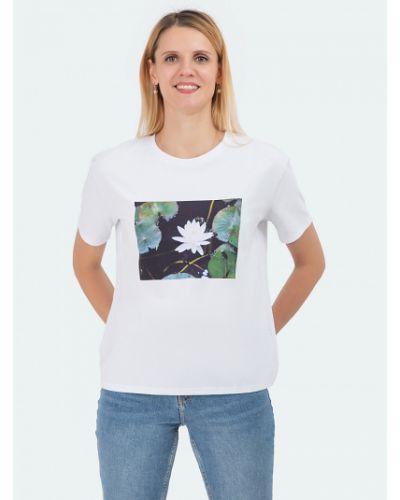 Прямая с рукавами футболка с вырезом Vis-a-vis