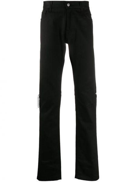 Klasyczne czarne spodnie klasyczne bawełniane Raf Simons