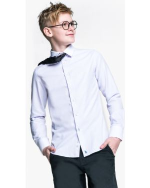 Школьная белая приталенная рубашка с длинными рукавами Orby