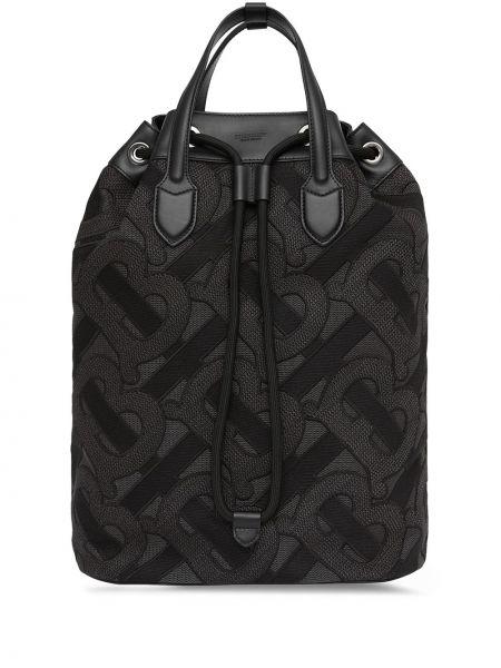 С ремешком черная сумка на плечо из натуральной кожи Burberry