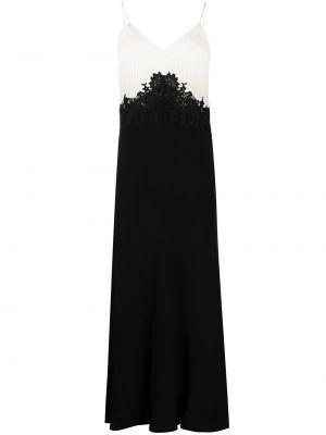 Хлопковое черное ажурное платье на бретелях Twin-set