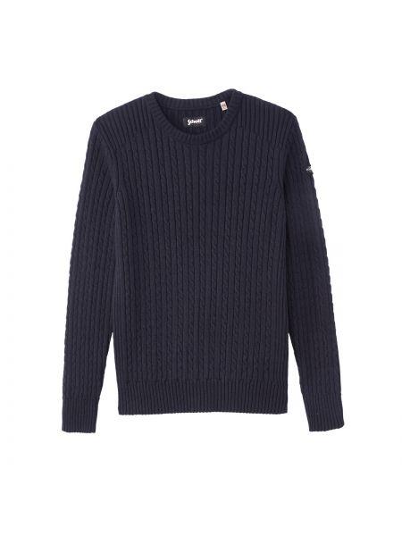 Пуловер крупной вязки с узором Schott