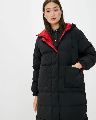 Теплая черная зимняя куртка Macleria