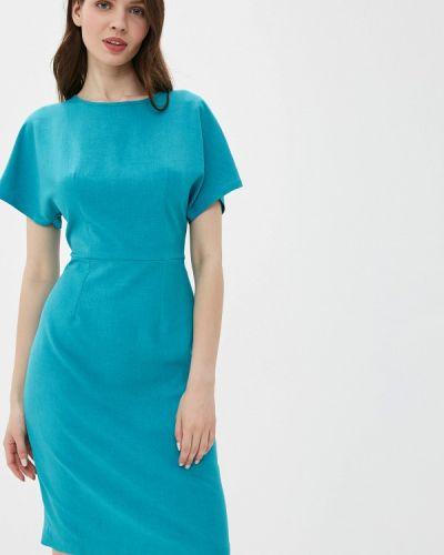 Платье бирюзовый прямое Yuna Style