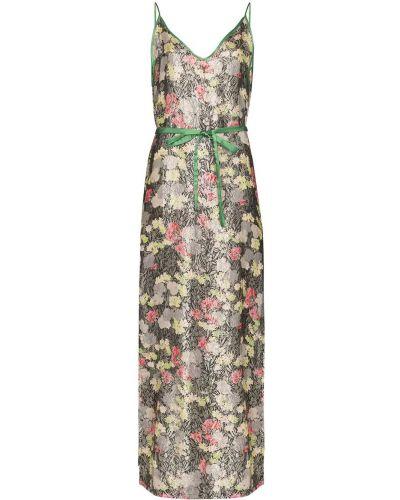 Платье макси винтажное с вырезом на молнии One Vintage