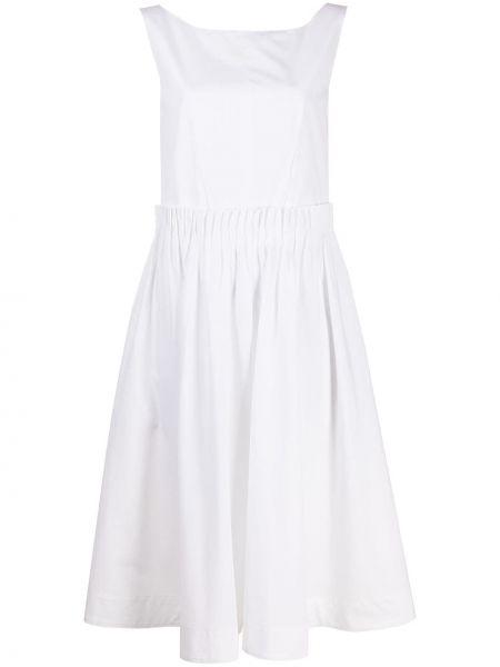 Хлопковое платье миди - белое Marni