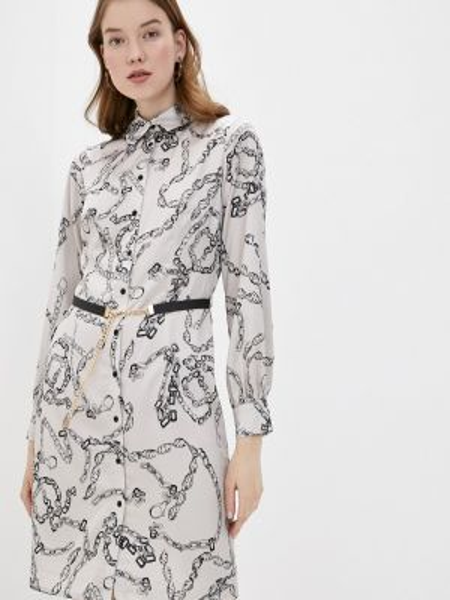 Платье платье-рубашка бежевое Lusio