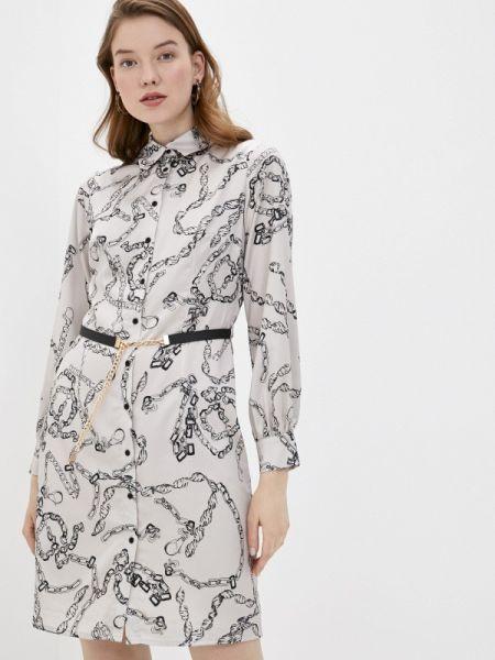 Платье прямое бежевое Lusio