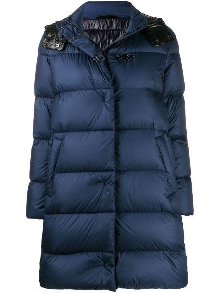Синий длинное пальто Fay