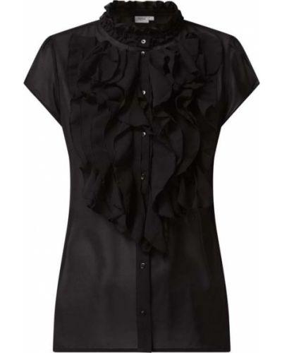 Bluzka z falbaną z falbanami - czarna Saint Tropez
