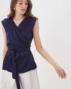 Блузка без рукавов синяя весенний Adolfo Dominguez