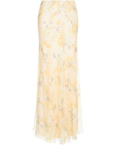 Юбка макси с цветочным принтом шелковая Ralph Lauren