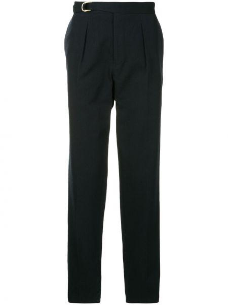 Зауженные черные зауженные брюки с поясом на молнии Tomorrowland