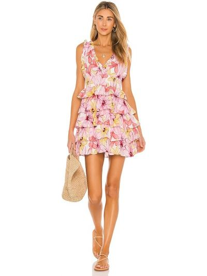 Льняное розовое платье Sundress